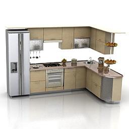 Objet 3d gratuit model 3d gratuit objets meubles de for Cuisine 3d autocad