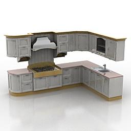 Objet 3d gratuit model 3d gratuit objets meubles de for Modele cuisine 3d